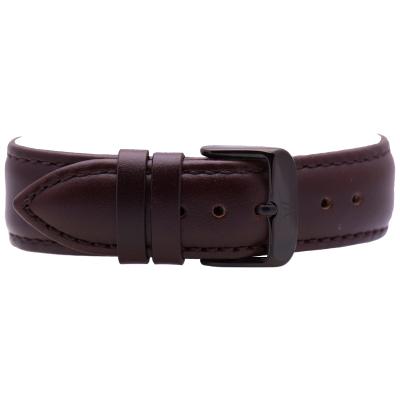 Jacques Reboul Dark Brown Strap with Black Buckle