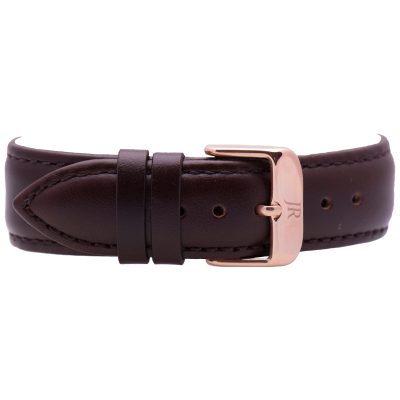 Jacques Reboul Dark Brown Strap with Rose Gold Buckle