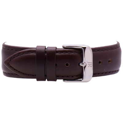 Jacques Reboul Dark Brown Strap with Silver Buckle