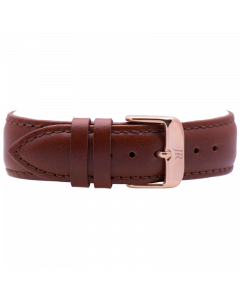 Jacques Reboul Brown Strap with Rose Gold Buckle